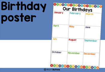 Birthday display poster - buttons theme