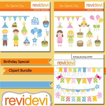 Birthday special clip art bundle (3 packs)
