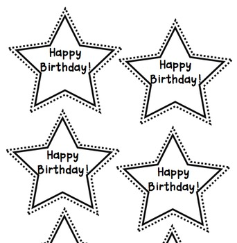 Birthday star pencil toppers FREE!
