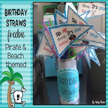 Birthday straws freebie
