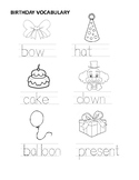 Birthday vocabulary