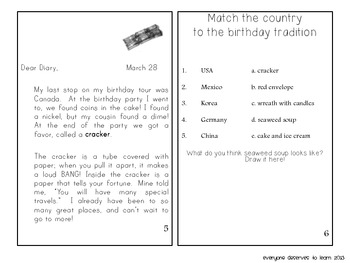 Birthdays Around the World Interactive Book