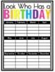 Birthdays {Black Neon}