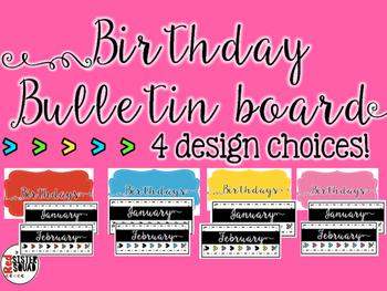 Birthdays Bulletin Board