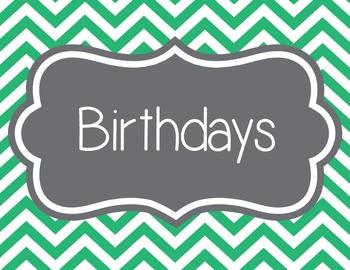 Birthdays, Chevron