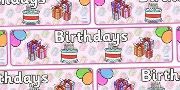 Birthdays Display Banner