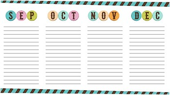 Birthdays & Holidays Calendar