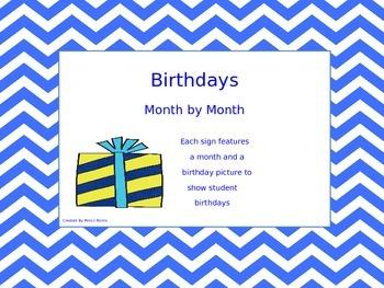 Birthdays - Month by Month