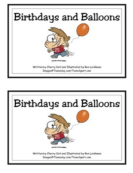 Birthdays and Balloons: Guided Reader for number/color rec