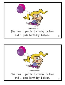 Birthdays and Balloons Reproducible Guided Reading Book