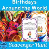Birthdays around the World Scavenger Hunt