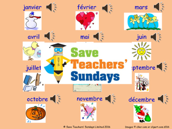 Birthdays in French Lesson plan, PowerPoint (with audio), Cards & Activity