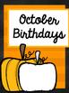 Birthdays of the Month