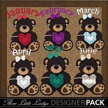Birthstone Black Bear Girls 1