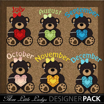 Birthstone Black Bear Girls 2