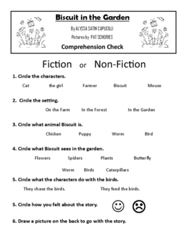 Biscuit in the Garden Comprehension Check