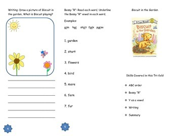 Biscuit in the GardenComprehension Tri-fold