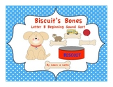 Biscuit's Bones - Letter B Beginning Sound Sort (Color and Black & White)