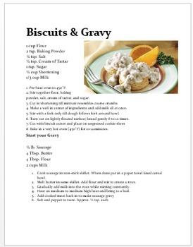 Biscuits & Gravy Lab