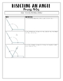 Bisecting an Angle Process Notes