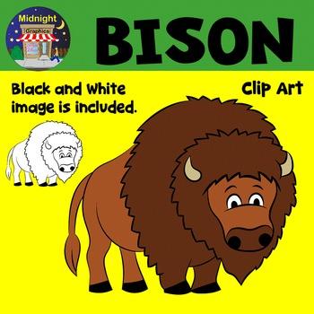 Bison Zoo Animals Clip Art