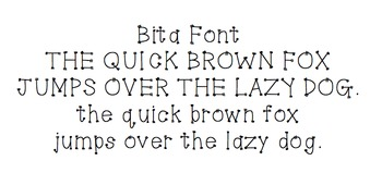 Bita: Font for Personal + Commercial Use