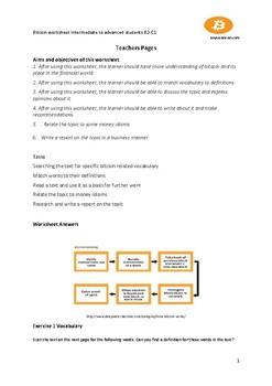 Bitcoin Worksheet