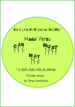Bite A Little Bit Of Grammar-Modal Verbs:Can, May, Must.