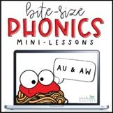 Phonics Mini-Lesson   AU & AW