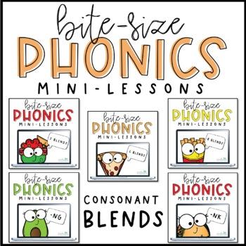 Bite-Size Phonics Lessons - Consonant Blends BUNDLE  [Distance Learning]