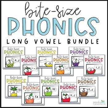 Bite-Size Phonics Lessons - Long Vowel BUNDLE