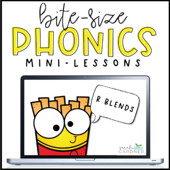 Bite-Size Phonics Lessons - R Blends  [Distance Learning]