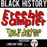 Black History Printables Free Sampler