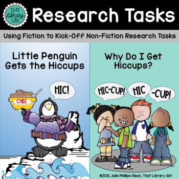 Library Lessons - Little Penguin Gets the Hiccups (Mini-Research)