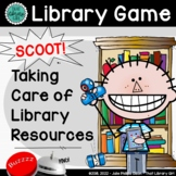 Back to School Library Book Care SCOOT | Taking Care of Library Resources