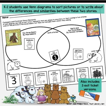 Library Lessons - Santa and the Three Bears (Story Elements)