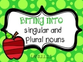 Biting into Singular and Plural Nouns Activity