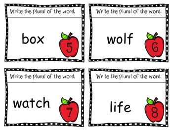 Biting into Singular and Plural Nouns Activity