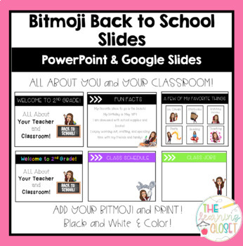 Bitmoji Back to School Slides