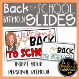 Bitmoji Back to School Slides