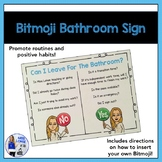 Bitmoji Bathroom Sign