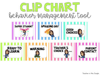 Bitmoji Bright Pastel Classroom Management Posters