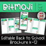 Bitmoji Inspired Brochure Editable Meet The Teacher Template Back To School