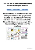 Bitmoji Certificate Templates