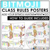 Bitmoji Class Rules Posters