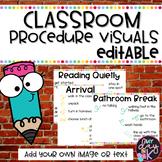 Classroom Procedure Visuals (Editable)