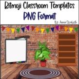Bit Emoji Virtual Classroom Templates {PNG Format}