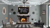 \Winter Christmas Snowflake  Virtual Classroom Template