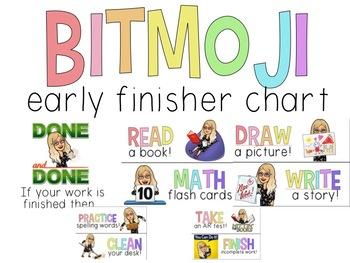 Bitmoji Early Finisher Chart