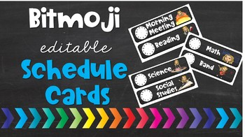 Bitmoji Editable Schedule Cards